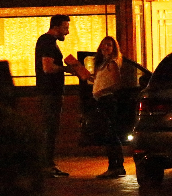 EXCLUSIVE: **PREMIUM RATES APPLY** Nanny Christine Ouzounian visits Ben Affleck at his rented LA home on July 17 2015