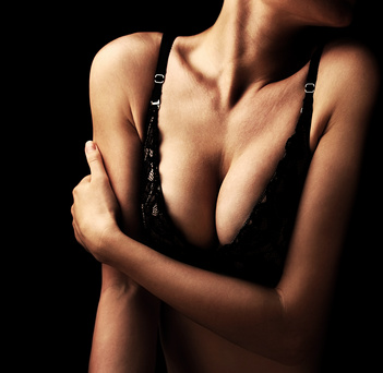 Beautiful sexy female body, healthy breast, beauty and health care concept