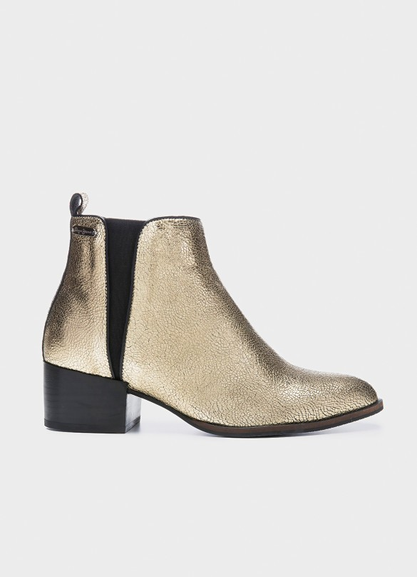 Metallic ankle boots, Pepe Jeans London, 145€
